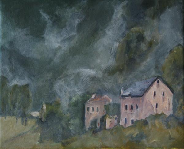1 Häuser Im Nebel