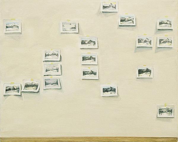 neun Tage 2007, Akryl auf Leinwand, 40 x 50 cm