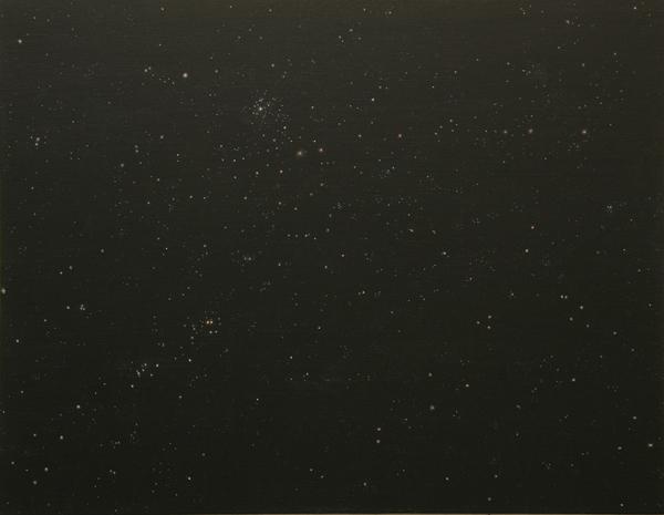Sternenhimmel 2007, Akryl auf Leinwand, 100 x 75 cmimage
