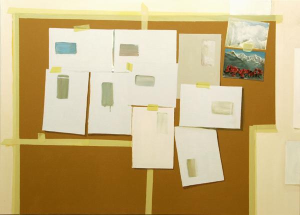Umschläge 2007, Akryl auf Leinwand, 100 x 70 cmimage