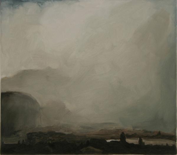 Nebellandschaft 2008, Öl auf Baumwolle, 40 x 35 cmimage
