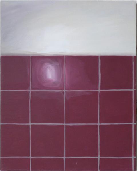 Kacheln II 2007, Akryl auf Leinwand, 40 x 50 cmimage