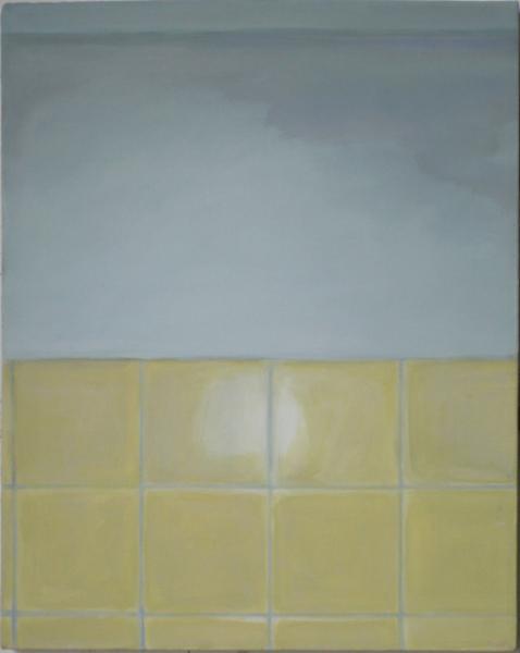 Kacheln I 2007, Akryl auf Leinwand, 40 x 50 cm