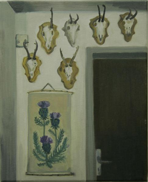 Luzi 2008, Öl auf Baumwolle, 26 x 32 cm