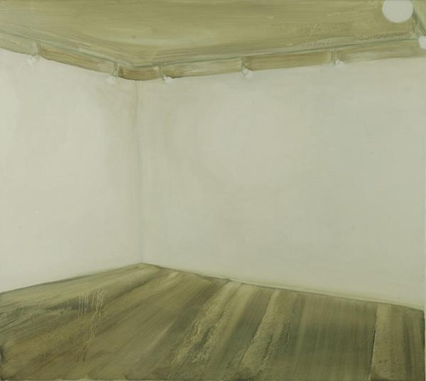 Raum leer I 2008, Öl auf Baumwolle, 100 x 90 cm